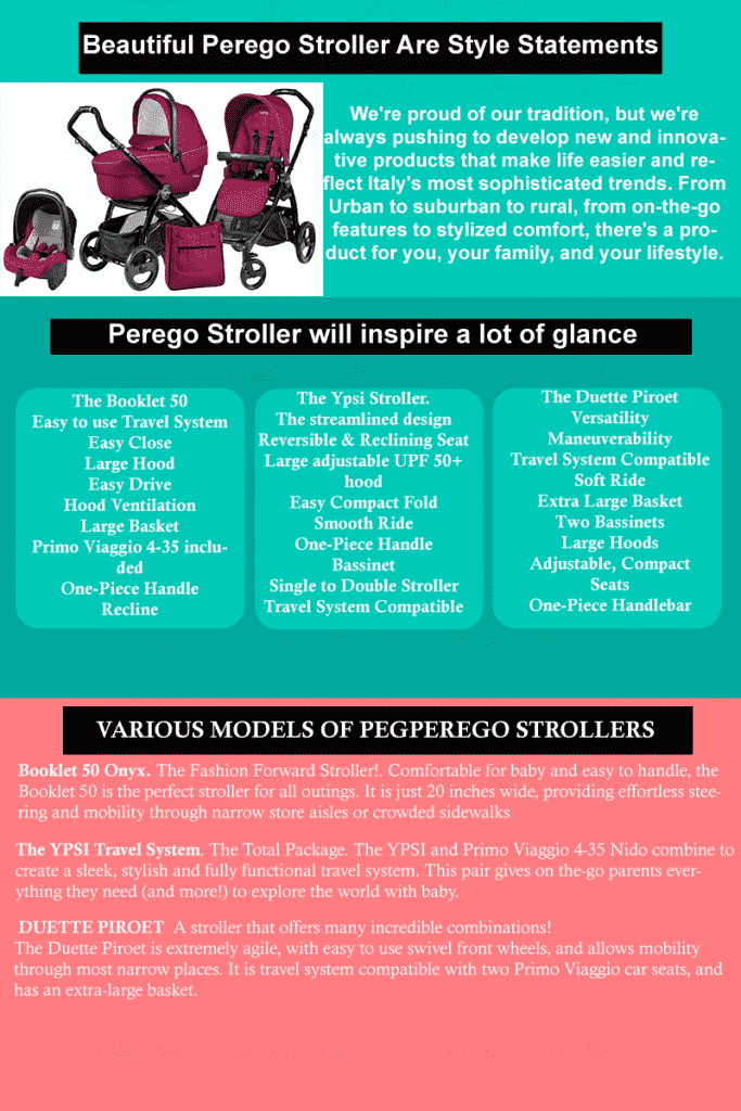 Beautiful Perego stroller are style statements