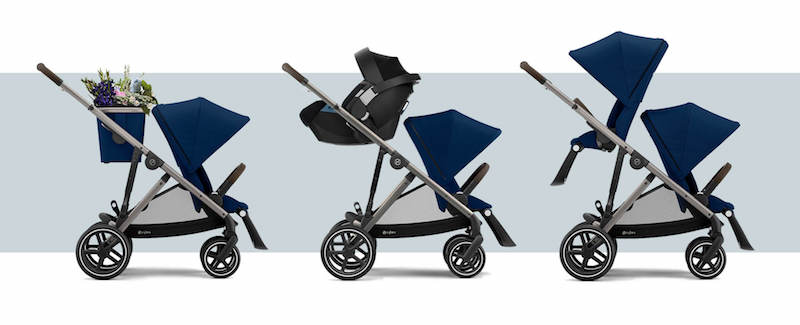CYBEX Gazelle S Sit and Strollers, Moduler double stroller