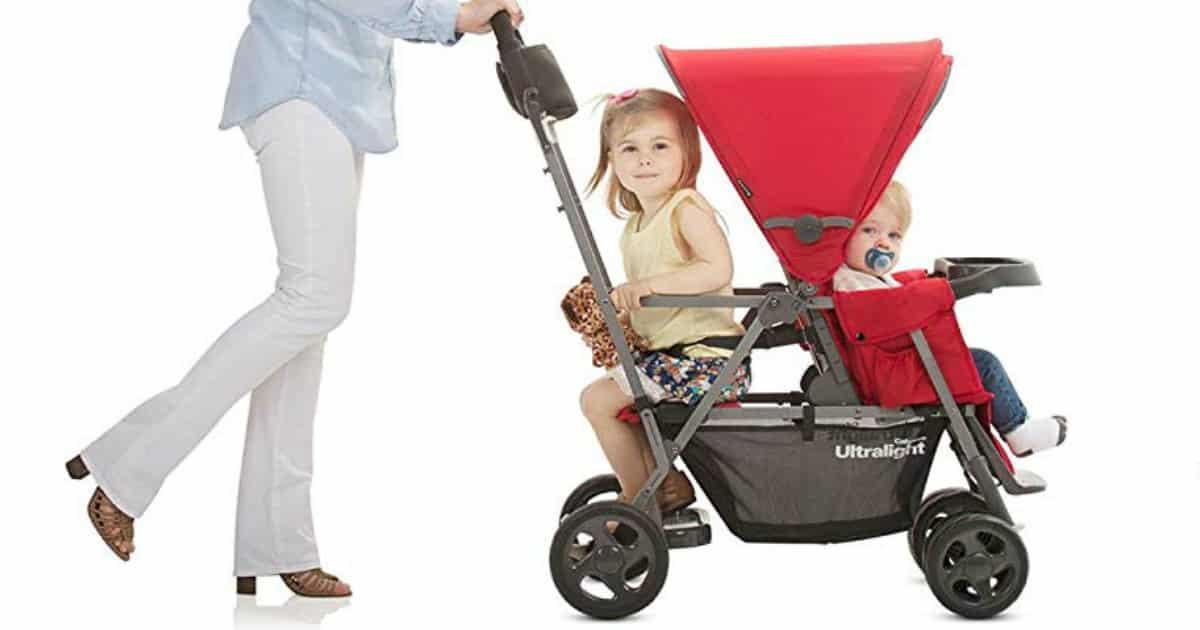 Joovy Ultralight Graphite double Stroller for infants