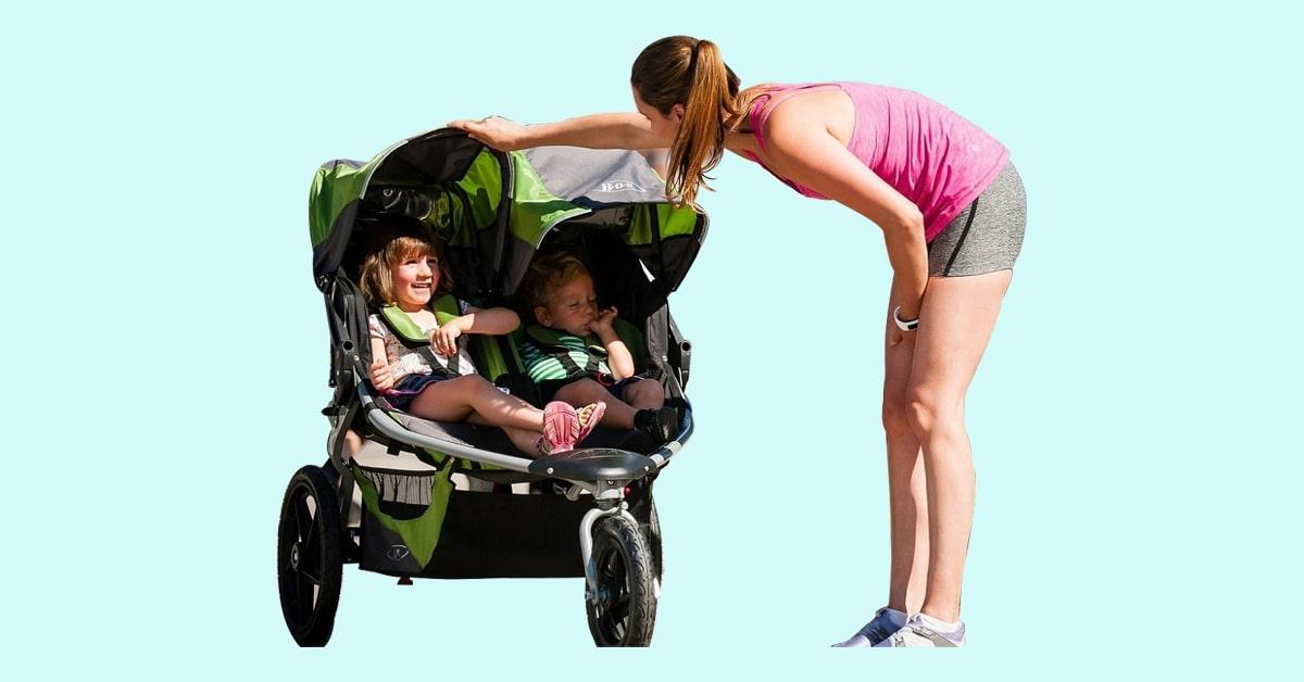 double jogging stroller for infants and toddler